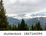 mountain landscape and dramatic ... | Shutterstock . vector #1867164394