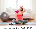 Fitness  Home And Diet Concept...