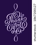 thank you   hand lettering.... | Shutterstock .eps vector #1867200127