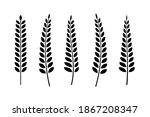 set of hand tree branches with...   Shutterstock .eps vector #1867208347