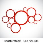 circles design graphic... | Shutterstock . vector #186721631