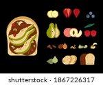 sweet breakfast. cartoon...   Shutterstock .eps vector #1867226317