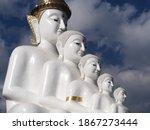 White Buddha Statue At Wat Phra ...
