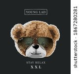 typography slogan with bear... | Shutterstock .eps vector #1867280281