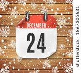 december 24 calendar icon on... | Shutterstock . vector #1867305631
