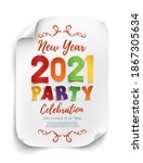 new year 2021 party poster... | Shutterstock . vector #1867305634