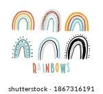 rainbow set. childish print for ...   Shutterstock .eps vector #1867316191