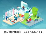 vector of a nursing home with... | Shutterstock .eps vector #1867331461