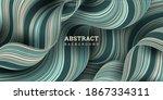 wavy striped background 3d....   Shutterstock .eps vector #1867334311