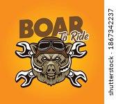 boar to ride illustration....   Shutterstock .eps vector #1867342237