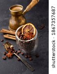 Coffee With Coffee Beans  Anise ...