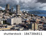 view of russian hill with storm ...   Shutterstock . vector #1867386811