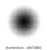 halftone circle. | Shutterstock .eps vector #18673882