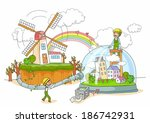 illustration of energy source... | Shutterstock . vector #186742931