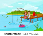 illustration of travel tourists ... | Shutterstock . vector #186743261