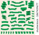 green ribbons set. banner.... | Shutterstock .eps vector #1867439677