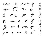 vector set of hand drawn arrows ... | Shutterstock .eps vector #1867442524