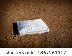 Baseball Bag On Dirt Infield   ...