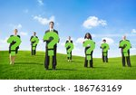 angry business people outdoors... | Shutterstock . vector #186763169