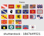 set flags of the province of... | Shutterstock .eps vector #1867649521