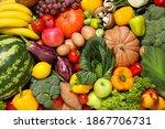 assortment of organic fresh... | Shutterstock . vector #1867706731