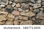 Rustic Stone Wall As Background