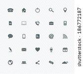 universal outline icons for web ... | Shutterstock .eps vector #186772187