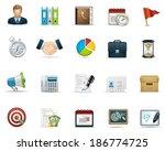 business icon set | Shutterstock .eps vector #186774725
