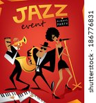 Jazz band, music event (vector Art)