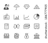 business and finance icons | Shutterstock .eps vector #186777905