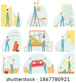 home repair worker set....   Shutterstock .eps vector #1867780921