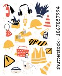 safety equipment and ppe... | Shutterstock .eps vector #1867857994