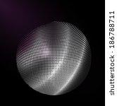 silver ball  3d  vector... | Shutterstock .eps vector #186788711