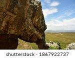 A Huge Rock Shaped Like An...
