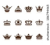crown collection | Shutterstock .eps vector #186794465