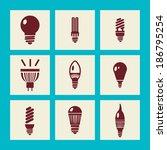light bulb icons lighting... | Shutterstock .eps vector #186795254