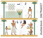 ancient egypt background. egypt ... | Shutterstock .eps vector #1867966027