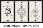 magic occult cards. vintage... | Shutterstock . vector #1867971841