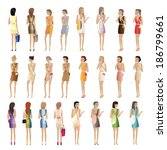 shopping women   vector... | Shutterstock .eps vector #186799661