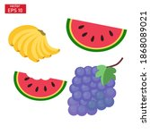 vector illustration of banana  ... | Shutterstock .eps vector #1868089021