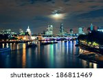 london cityscape with urban... | Shutterstock . vector #186811469