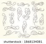 elegant design elements for... | Shutterstock .eps vector #1868134081