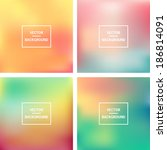 abstract colorful blurred... | Shutterstock .eps vector #186814091