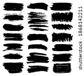 black brush strokes  collection ... | Shutterstock .eps vector #1868142211