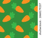 orange carrots  vector seamless ... | Shutterstock .eps vector #1868179237