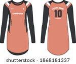 oversize long hem t shirt women ...   Shutterstock .eps vector #1868181337