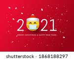 merry christmas and happy new... | Shutterstock .eps vector #1868188297