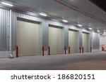 roller shutter door and... | Shutterstock . vector #186820151
