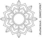 easy circular pattern in form... | Shutterstock .eps vector #1868214067
