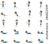 People At Aerobics Class - Isolated On White Background - Vector Illustration, Graphic Design Editable For Your Design